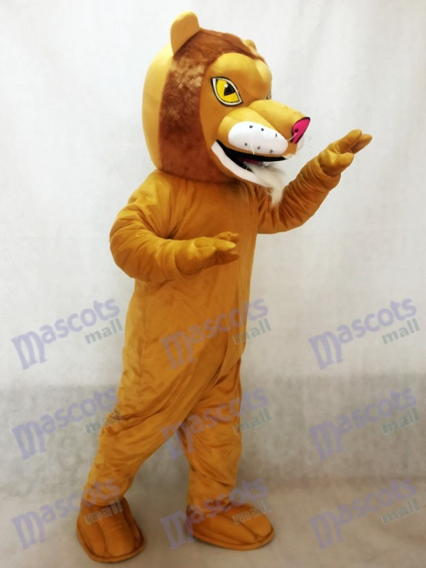 León africano feroz con nariz roja Disfraz de mascota Animal