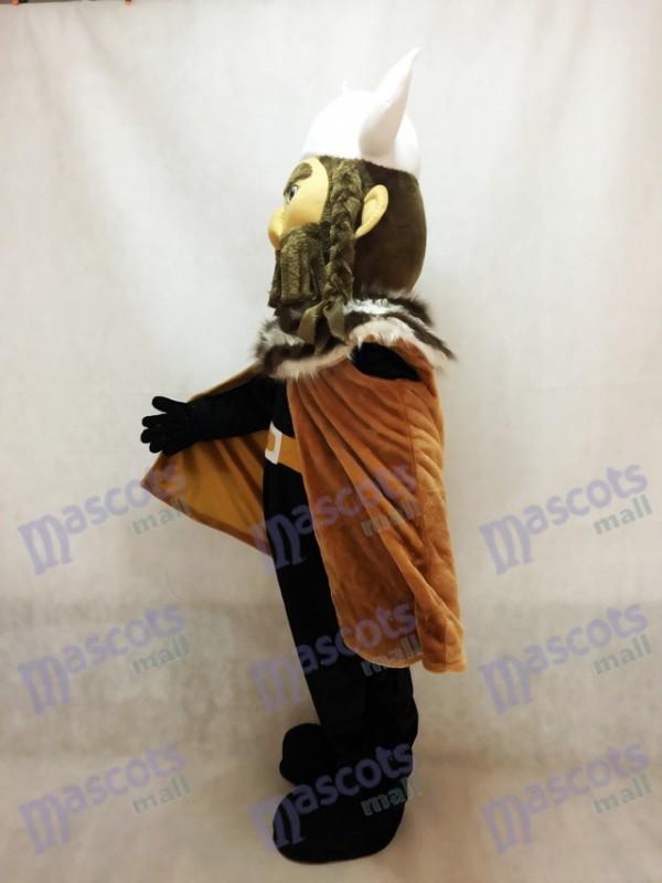 Vikingo gigante con Casco Blanco Disfraz de mascota personas