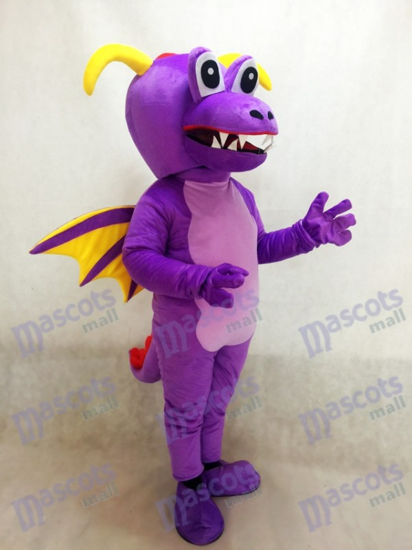 Dragón espino púrpura lindo Disfraz de mascota Animal