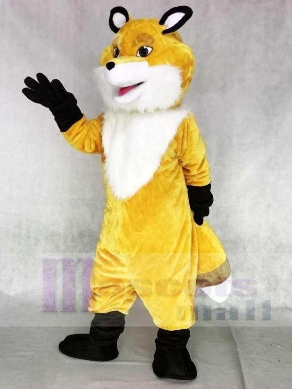 Nuevo zorro amarillo con pecho blanco Disfraz de mascota Animal
