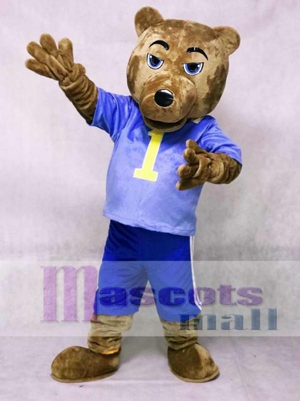 UCLA Soportar con chaleco y pantalones cortos Disfraz de mascota Animal