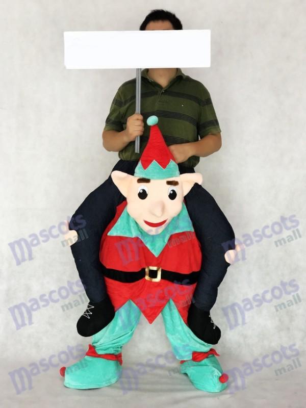 Elfo me lleva A cuestas Ride On Novedad Disfraz de mascota