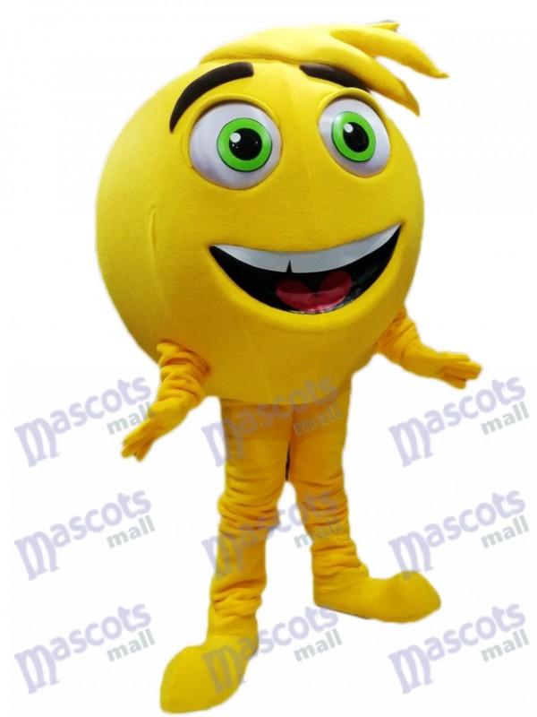 Yellow Mel Meh The Emoji Mascot Costume
